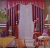 Embroidered taffeta curtain fabric