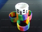 kindly color logo silicone finger ring
