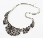 Retro Crescent Moon Shaped Necklace Antique Silver LP12092603-1