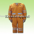 Customized Cotton Twill Safety Coveall Uniform with reflective tapes