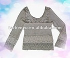 Lady cotton crochet top fashion clothing