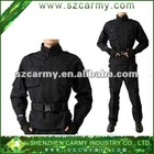 Army Use Training Suit/Public Security Uniform/Black Rip Stop Men's Uniform