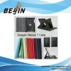 2012 hot selling 360 degree rotating stand leather case for google nexus 7