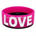 colorful 1 inch silicone wristbands