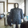 Nylon tartan rain coat