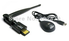 USB 150M WiFi Wireless Lan Network Card Adapter Antenna