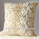Faux fur printed cushion, feather cushion, decorative cushion, pillow