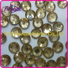 Hot sales Supper shining ss4, ss6.ss8,ss10.ss12,ss16,ss20,ss30,ss34,ss40 light Lt.Topaz color hot fix rhinestone transfer