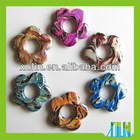 paint stripe flower acrylic beads hot sale