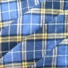 cotton yarn dyed check flannel fabric for garment