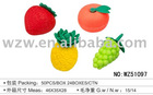3D shaped fruit eraser
