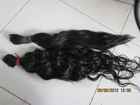 20inch natural color natrul wave Brazilian raw remy human hair weft