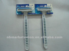 Practical Three Blades Stainless steel & Hotel Hot Selling Disposable Razors In South America And Europe