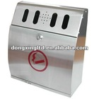 Stainless steel wall mounted ashtray;Cigarette bin