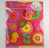 3d flower kids handmade sticker