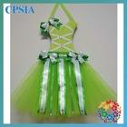 Wholesale Christmas green tutu bow holders/hospital decoration