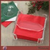 Transparent Square Finely Processed Acrylic/Perspex Napkin Case/Box