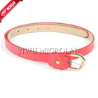 Korean Fashion Plum Pin Buckle belt lady leather belt