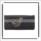 Cheap Bow Wallet Long Ladies Clutch Purse Black