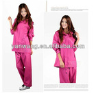 190T Polyester PVC raincoat jacket and pants
