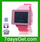 "i5 Mini 1.8"" Touch Screen Quad Band Bluetooth Watch Phone with Camera - Black"
