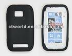 Single color silicone skin case for Nokia 710