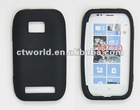 Single color silicone skin case for Nokia 710