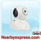 HooToo HT-IP210F (APM-J803) Indoor Wired / Wireless IP Camera MJPEG CMOS with IR Cut Filter US Version - White