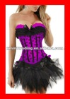 fashion corset tops with tutu skirt for prom cheap