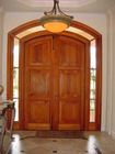 Solid wood entrance Door in Chinese cherry wood