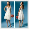 2012 custom-made new fashion summer heavy appliqued spaghetti strap A line beaded sequins lace short sexy backless wedding dress