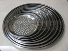 2012 stainless steel round tray , table plate , dinner tray