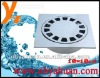 10x10cm zinc deodorization floor drain with 14 holes for Mid-east-thin style