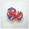 Colorful elastic silk knot cufflink