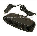 12V Car Multi Socket Cigarette Splitter Adapter 5 in 1
