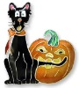 Cat &Pumpkin Halloween Pin Badge