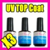 012 Nail Art Fast Shipping Wholesales Price 3 X Uv Topcoat Nail Art Gel Acrylic Tips Tool