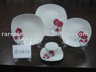 20 pcs square decal fine porcelain dinner set