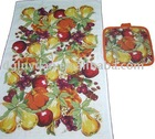 100 cotton Fruit printed cheap tea towel set