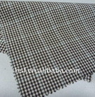 wool polyester viscose checked fabric