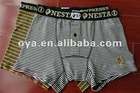 Newest stripes style boxers underwear for men