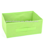 Cheap nonwoven folding storage box with handle in front