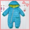 Cotton Padded Wind & Water Proof Baby Romper with hat for Winter, baby clothes, wholesale. ST-C095