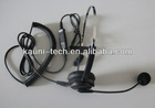 Professional monaural call center headset with QD, PLT compatible
