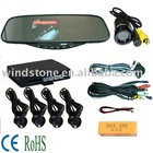 Car video monitor mirror/Video Bluetooth car mirror/ Car Mirror+wireless camera+bluetooth+FM Earpiece+4 sensor
