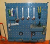 Plastic tool rack with accessories