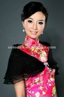 Hot Sale Elgeant Designer Black 3 layers Thin Pageant Party Shrug for Lady