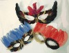 Fashion Carnival Party Mask with feathers