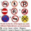 road traffic sign board