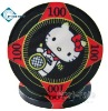 10g Custom Ceramic Poker Chips with Hello Kitty Style